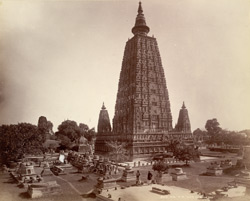 Gya N.W. view of [Mahabodhi Temple] Budh Gya.